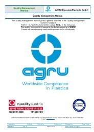 Quality Management Manual AGRU Kunststofftechnik GmbH Quality ...