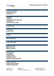 Product list of GruberChem GmbH A Ammonium Chloride ...