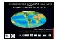 exploring knowledge gaps along the global carbon ... - biogeomod.net