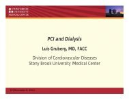 PCI And Dialysis Luis Gruberg, MD, FACC - Paragon Conventions