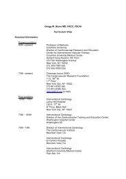 Gregg W. Stone MD, FACC, FSCAI Curriculum Vitae Personal ...