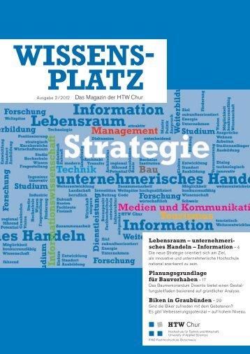 Wissensplatz (Ausgabe 2/2012) - HTW Chur