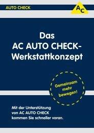 Das AC AUTO CHECK- Werkstattkonzept - atr.de