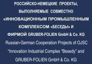 И ФИРМОЙ GRUBER-FOLIEN GmbH & Co. KG