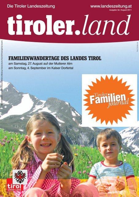 familienwandertage des landes tirol - Die Tiroler Landeszeitung