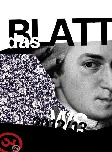 Das BLATT - Wintersemester 2012 / 13 - ÖH Mozarteum