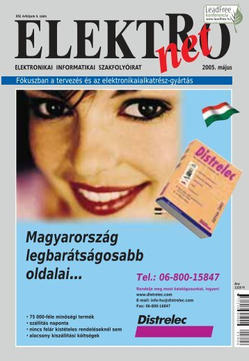 Magyarország legbarátságosabb oldalai… Tel.: 06-800 ... - Elektro Net
