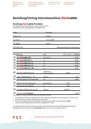 Bestellung/Vertrag Internetanschluss flashcable - Familienheim ...