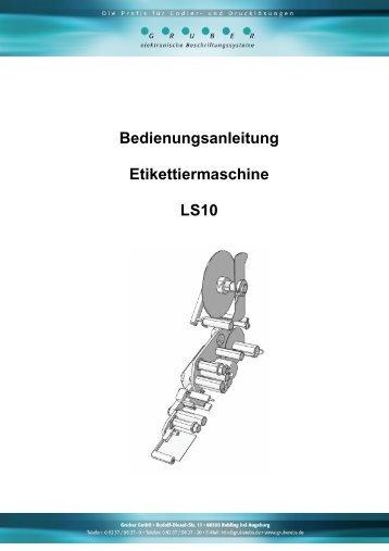 Bedienungsanleitung Etikettiermaschine LS10