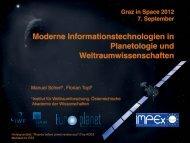 Präsentation PDF - Graz in Space 2012 - Österreichische Akademie ...
