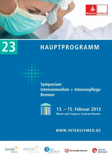 Hauptprogramm 2013 - Symposium Intensivmedizin + Intensivpflege