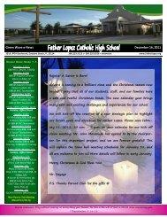 Green Wave e-News December 16, 2011 - Father Lopez High School