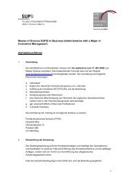 Master of Science SUPSI in Business Administration with a Major in ...