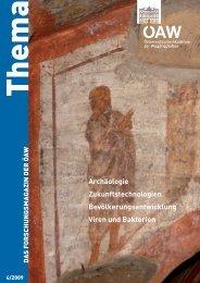 Thema 4/2009 - Österreichische Akademie der Wissenschaften