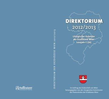 direktorium 2012/2013 direktorium 2012/2013 - geist.voll