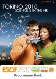ESOF2010 • TORINO, 2-7 JULY Programme Book