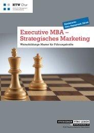 Executive MBA – Strategisches Marketing - HTW Chur
