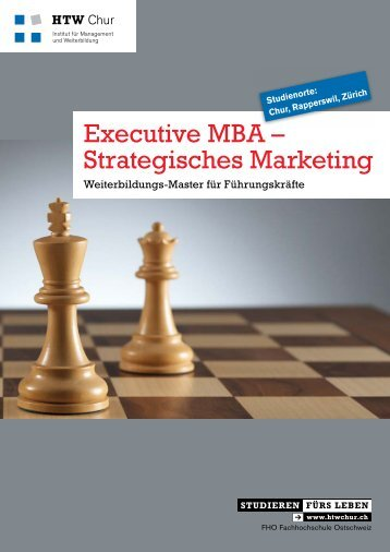 Executive MBA – Strategisches Marketing - HTW Chur