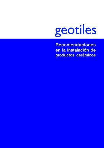 Recomendaciones en la instalación de - Geotiles