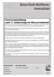 Sonderausgabe , erschienen am 29.06.12.pdf - Stadt Bitterfeld-Wolfen