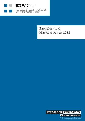 Bachelor- und Masterarbeiten 2012 - HTW Chur