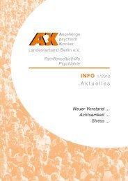 ApK Info 1/2012 - Angehörige psychisch Kranker
