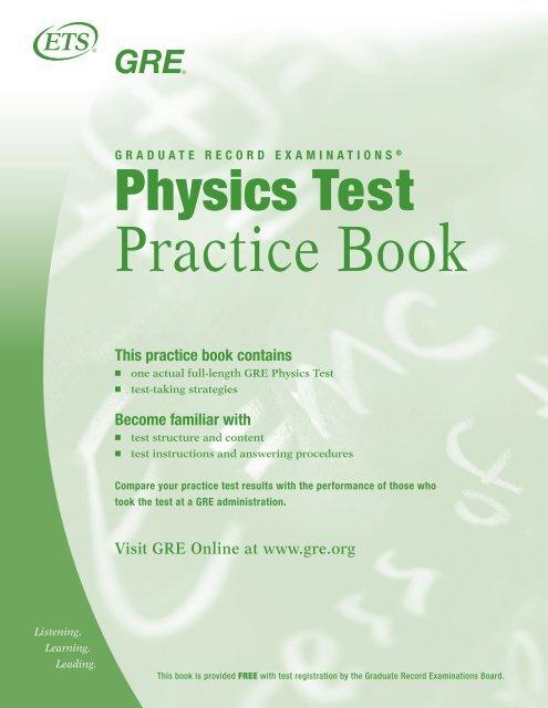 Physics test. Practice book