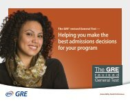 GRE revised General Test - ETS
