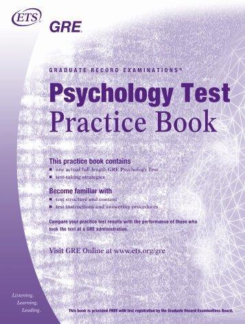 GRE - psychology test - ETS
