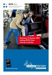 Flyer Infotag - HTW Chur