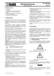 BA 1350-1400 Schieber - Klaus Union