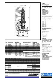 Überströmventil mit Faltenbalg PN 10-40 DN 15-150 ... - Klaus Union