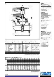 Absperrschieber mit elastischem Keil PN 40-160 DN ... - Klaus Union