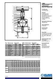 Absperrschieber mit Keilplatten PN 10 - 25 DN 50 ... - Klaus Union