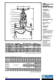 Absperrventil Geradsitzform PN 10-40 DN 15-300 ... - Klaus Union