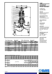 Geradsitzventil mit Faltenbalg PN 10-40 DN 15-200 ... - Klaus Union
