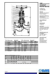Geradsitzventil mit Faltenbalg PN 63-100 DN 15-100 ... - Klaus Union