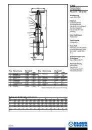 Flachschieber mit Keilplatten PN 2,5-10 DN 40-600 ... - Klaus Union