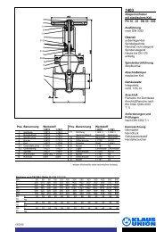 Absperrschieber mit elastischem Keil PN 10 - 25 DN ... - Klaus Union