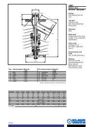 Bottom valve PN 10-16 DN 25-200 Design Disk ... - Klaus Union