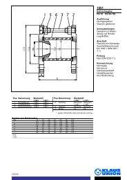 Rohrschauglas PN 10 DN 25-100 Ausführung ... - Klaus Union