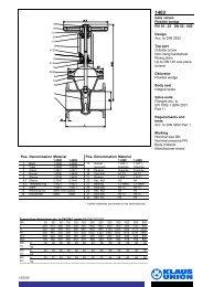 Gate valves Flexible wedge PN 10 - 25 DN 50 - 600 ... - Klaus Union