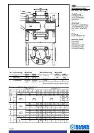 Scheibenschauglas PN 10-40 DN 15-200 Ausführung ... - Klaus Union