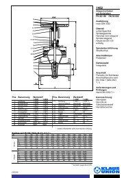 Absperrschieber mit Keilplatten PN 40-160 DN 50 ... - Klaus Union