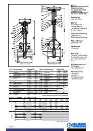 Absperrschieber mit elastischem Keil und Faltenbalg ... - Klaus Union