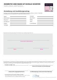 Anmeldung und Ausbildungsvertrag