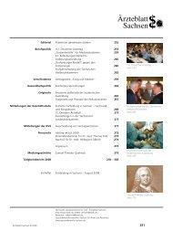 Ärzteblatt Sachsen 06/2009 - Sächsische Landesärztekammer