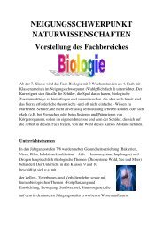 Wahlpflichtfach Biologie - Realschule Nettetal