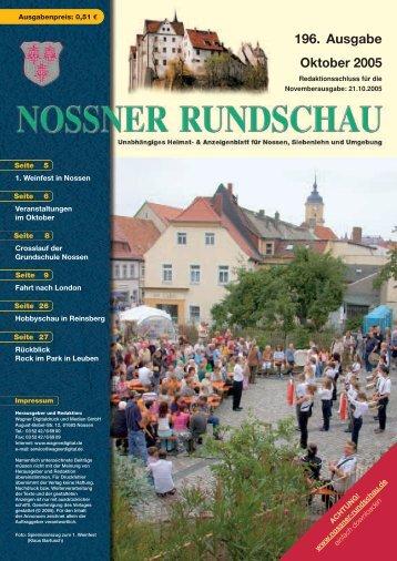196. Ausgabe Oktober 2005 - Nossner Rundschau