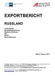 Exportbericht Russland - Enterprise Europe Network Bayern